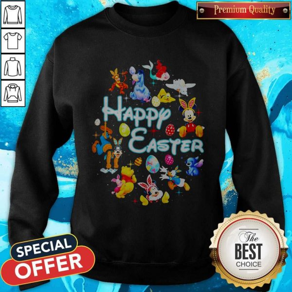 Disney Characters Happy Easter Sweatshirt