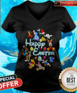 Disney Characters Happy Easter V-neck