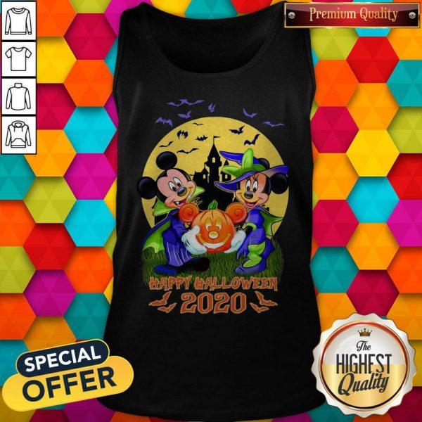 Disney Halloween Shirt Mickey And Minnie Happy Halloween 2020 Disney Tank Top