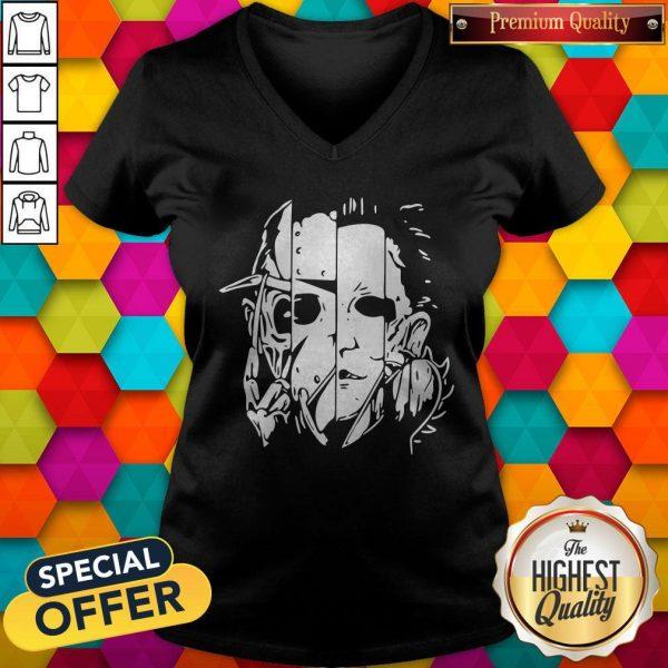 Freddy Jason Michael Thomas Shirt Horror Shirt Halloween V-neck