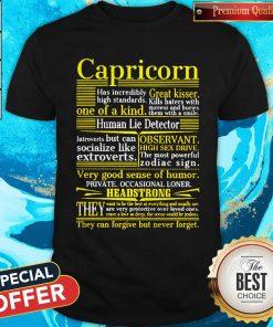 Funny Capricorn Headstrong Shirt