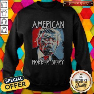 Funny Sarcastic Humor American Horror Story Halloween Zombie Trump 2020 Election Day Short-Sleeve Unisex Sweatshirt