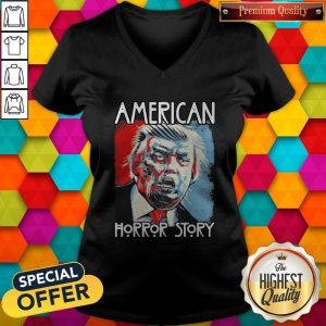 Funny Sarcastic Humor American Horror Story Halloween Zombie Trump 2020 Election Day Short-Sleeve Unisex V-neckFunny Sarcastic Humor American Horror Story Halloween Zombie Trump 2020 Election Day Short-Sleeve Unisex V-neck