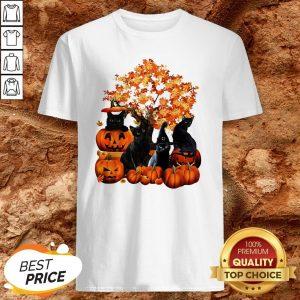 Good Cats Pumpkin Halloween Shirt