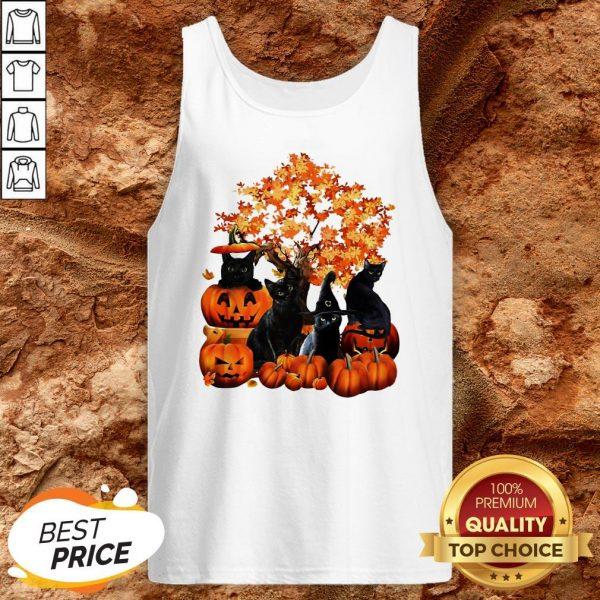 Good Cats Pumpkin Halloween Tank Top
