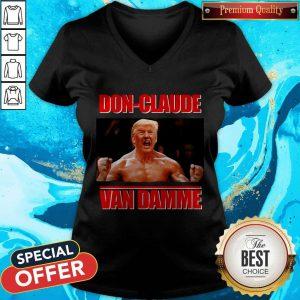 Good Donald Trump DOn-claude Van Damme V-neck