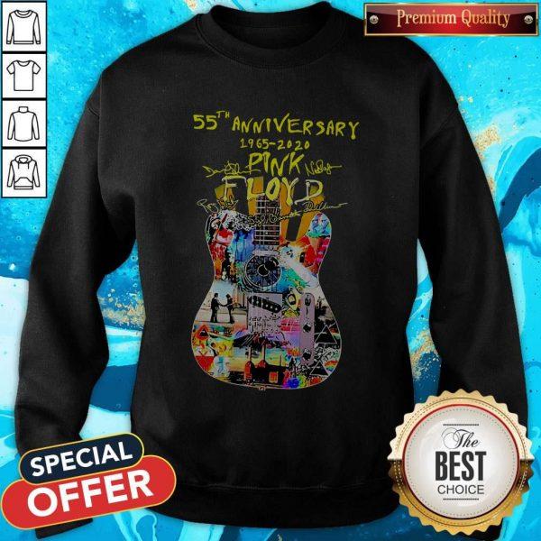 Guitar Pink Floyd 55th Anniversary 1965 2020 Signatures SweatshirtGuitar Pink Floyd 55th Anniversary 1965 2020 Signatures Sweatshirt
