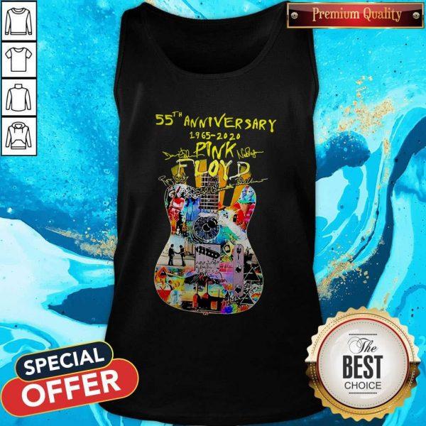 Guitar Pink Floyd 55th Anniversary 1965 2020 Signatures Tank Top