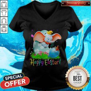 Happy Dumbo Easter Egg Happy Easter V-neckHappy Dumbo Easter Egg Happy Easter V-neck