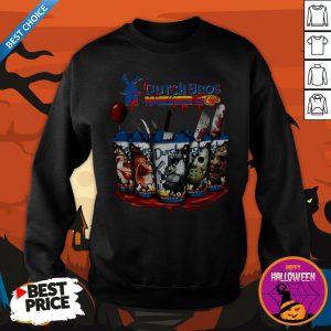 Happy Horror Character Dutch Bros Coffee Sweatshirt