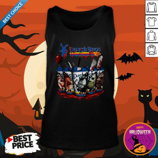 Happy Horror Character Dutch Bros Coffee Tank TopHappy Horror Character Dutch Bros Coffee Tank Top