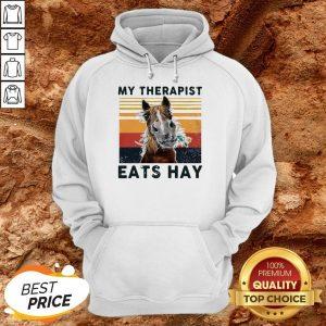Horse My Therapist Eats Hay Vintage Hoodie