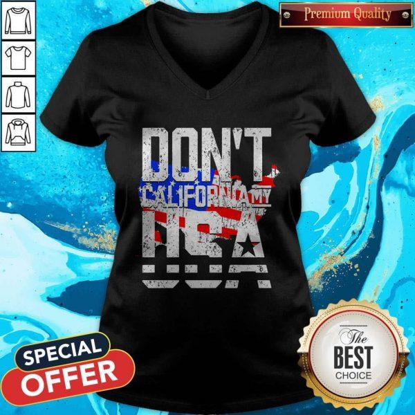 Hot Don't California My USA V-neck