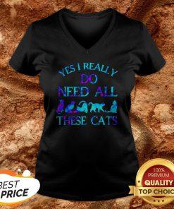 Hot Yes I Really Do Need All These Cats V-neck