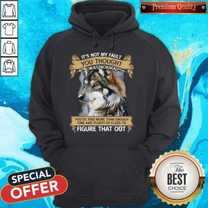 It's Not My Fault You Thought I Was Normal Figure That Out Wolf Hoodiea