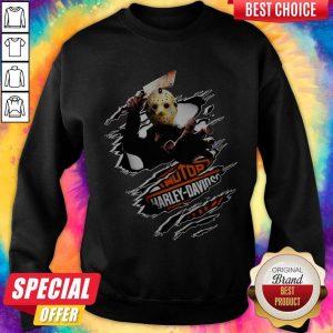 Jason Voorhees Motor Harley Davidson Blood Inside Me Sweatshirt