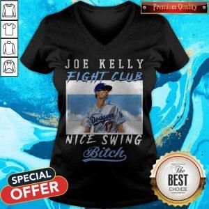 joe-kelly-fight-club-nice-swing-bitch v-neck