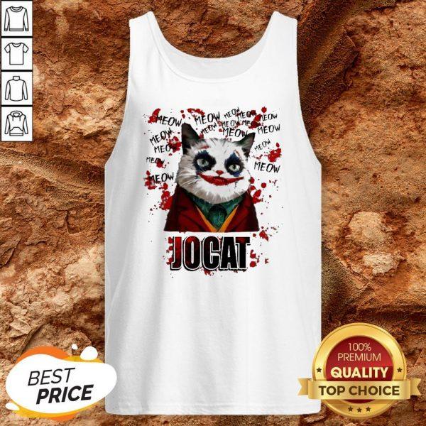Joker Meow Jocat Halloween Tank TopJoker Meow Jocat Halloween Tank Top