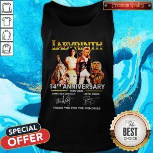 Labyrinth 34th Anniversary 1986 2020 Thank You For The Memories Signatures Tank Top