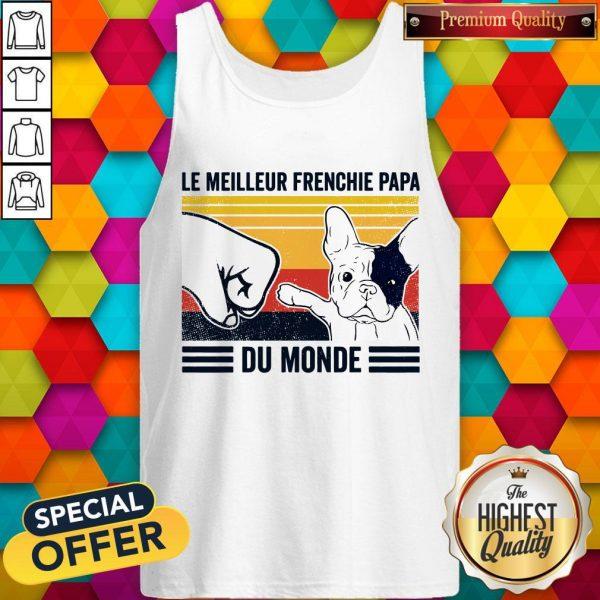 Le Meilleur Frenchie Papa Du Monde Vintage Tank TopLe Meilleur Frenchie Papa Du Monde Vintage Tank Top
