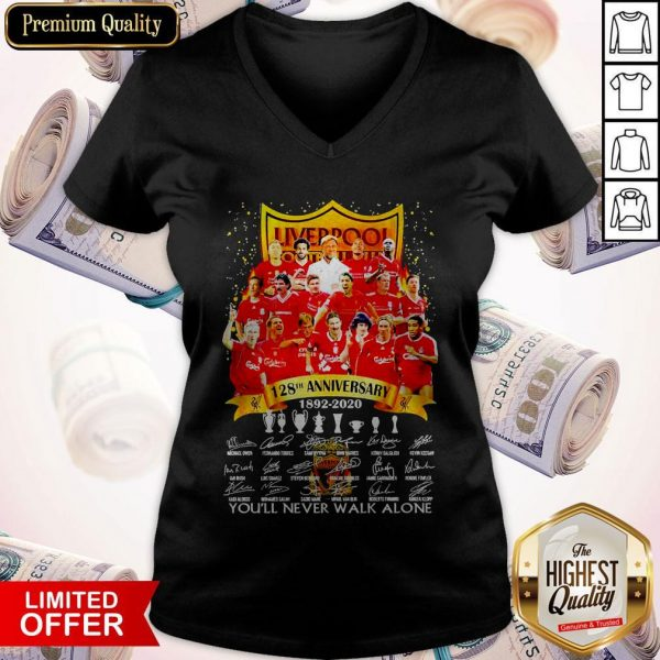 Liverpool 128th Anniversary 1892 2020 You'll Never Signatures V-neck