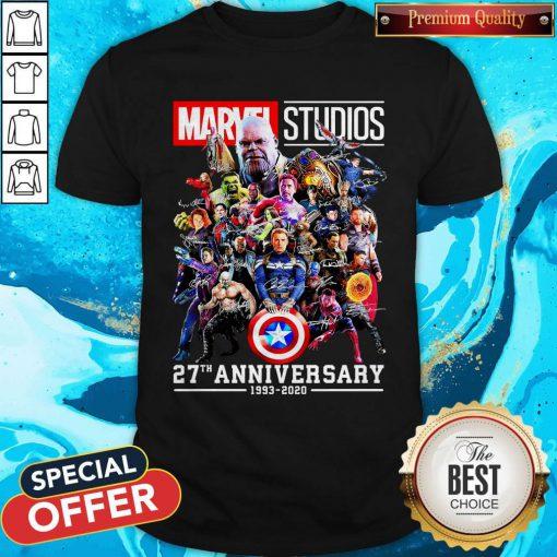 Marvel Studio 27th Anniversary 1993 2020 Signatures Shirt