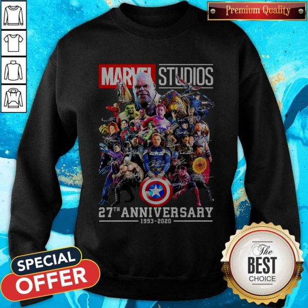 Marvel Studio 27th Anniversary 1993 2020Marvel Studio 27th Anniversary 1993 2020 Signatures Sweatshirt Signatures Sweatshirt