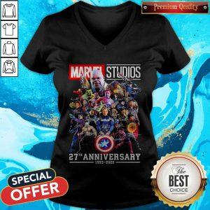 Marvel Studio 27th Anniversary 1993 2020 Signatures V-neckMarvel Studio 27th Anniversary 1993 2020 Signatures V-neck