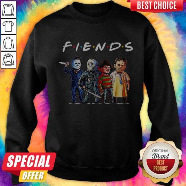 Michael Myers Jason Voorhees Freddy Krueger Leatherface Chucky Fiends Halloween Sweatshirt
