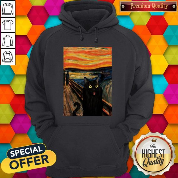 Nice Cat Expressionism Painting HoodieNice Cat Expressionism Painting Hoodie