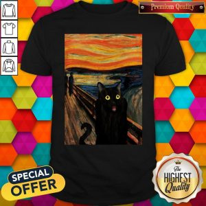 Nice Cat Expressionism Painting Shirt