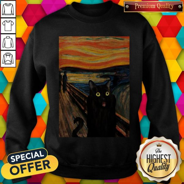 Nice Cat Expressionism Painting Sweatshirt