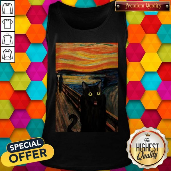 Nice Cat Expressionism Painting Tank TopNice Cat Expressionism Painting Tank Top