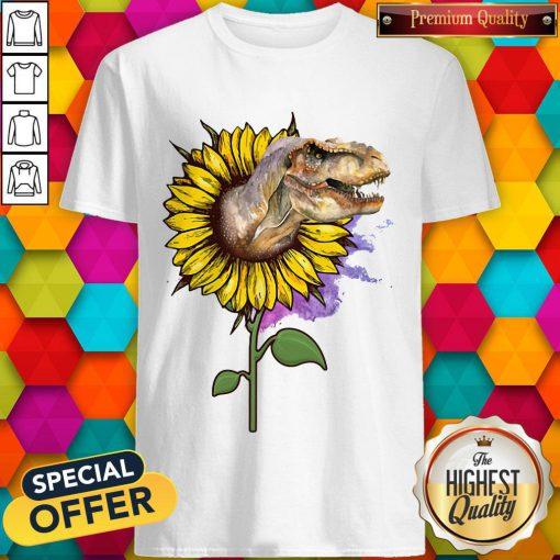 Nice Dinosaurs T Rex Sunflower ShirtNice Dinosaurs T Rex Sunflower Shirt