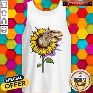 Nice Dinosaurs T Rex Sunflower Tank TopNice Dinosaurs T Rex Sunflower Tank Top