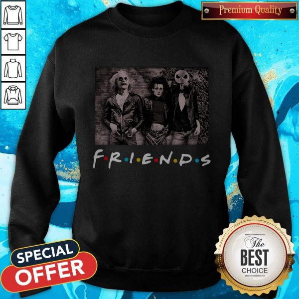 Nice Jack Skeleton And Friend Halloween Sweatshirt