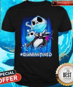 Nice Jack Skellington Face Mask QuarantiNice Jack Skellington Face Mask Quarantined Shirtned Shirt