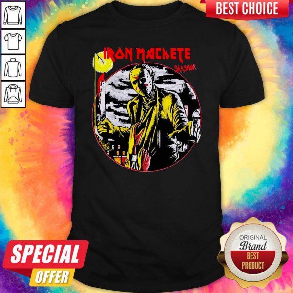 Nice Jason Voorhees Iron Machete Slasher ShirtNice Jason Voorhees Iron Machete Slasher Shirt
