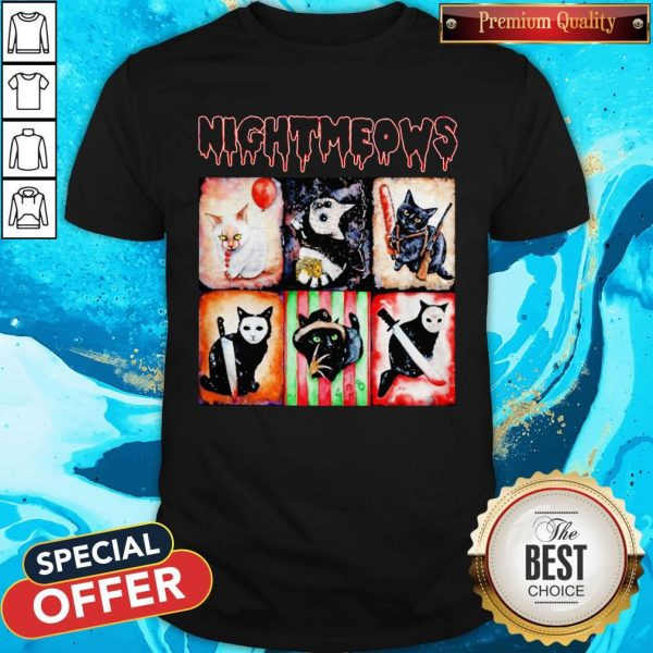 Nice Jason Voorhees Nightmeows Halloween Shirt