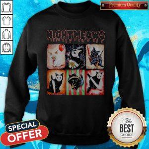 Nice Jason Voorhees Nightmeows Halloween SweatshirtNice Jason Voorhees Nightmeows Halloween Sweatshirt