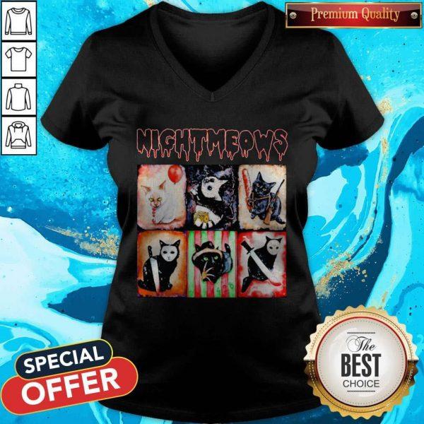 Nice Jason Voorhees Nightmeows Halloween V-neck