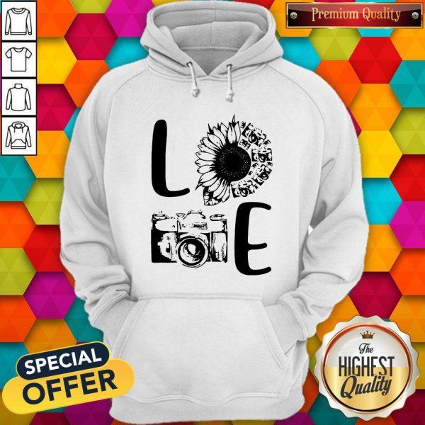 Nice Love Camera Sunflower Hoodie