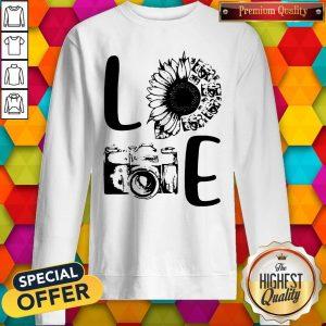 Nice Love Camera Sunflower Sweatshirt