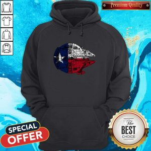 Nice Texas Flag And The Millennium Falcon Hoodie