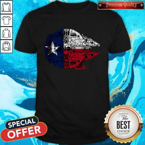 Nice Texas Flag And The Millennium Falcon ShirtNice Texas Flag And The Millennium Falcon Shirt