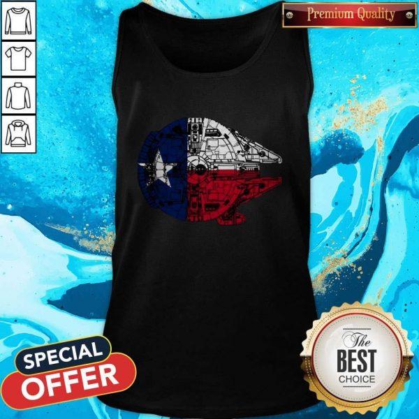 Nice Texas Flag And The Millennium FalcoNice Texas Flag And The Millennium Falcon Tank Topn Tank Top