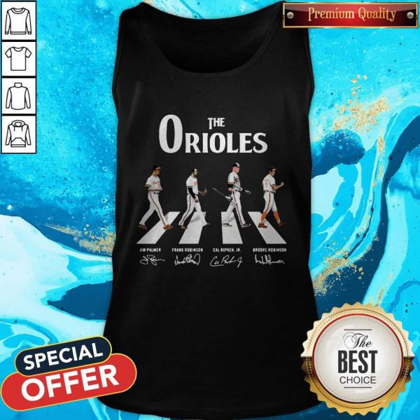 Nice The Orioles Abbey Road Signatures Tank Top