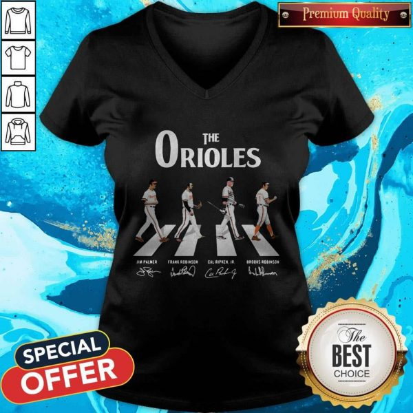 Nice The Orioles Abbey Road Signatures VNice The Orioles Abbey Road Signatures V-neck-neck