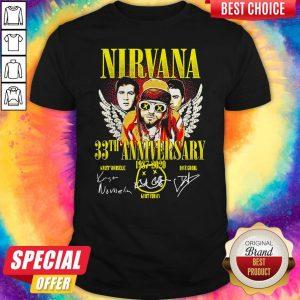 Nirvana 33th Anniversary 1987-2020 Signatures Shirt
