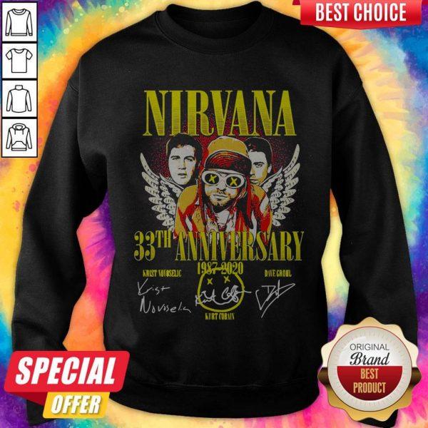 Nirvana 33th Anniversary 1987-2020 SignaNirvana 33th Anniversary 1987-2020 Signatures Sweatshirttures Sweatshirt